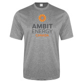 Performance Grey Heather Contender Tee-Ambit Energy Canada