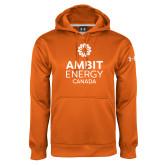 Under Armour Orange Performance Sweats Team Hoodie-Ambit Energy Canada