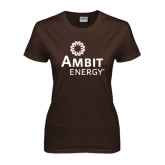 Ladies Brown T Shirt-