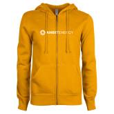 ENZA Ladies Gold Fleece Full Zip Hoodie-Ambit Energy
