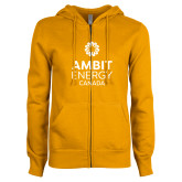 ENZA Ladies Gold Fleece Full Zip Hoodie-Ambit Energy Canada