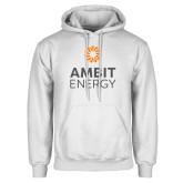 White Fleece Hoodie-Ambit Energy