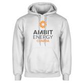 White Fleece Hoodie-Ambit Energy Canada