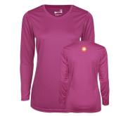 Ladies Syntrel Performance Raspberry Longsleeve Shirt-Spark