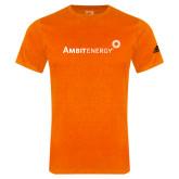 Adidas Orange Logo T Shirt-