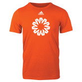 Adidas Orange Logo T Shirt-Spark