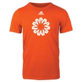 Adidas Orange Logo T Shirt-Spark