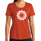 Ladies Syntrel Performance Orange Tee-Spark