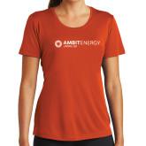 Ladies Syntrel Performance Orange Tee-Ambit Energy Japan