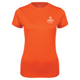 Ladies Syntrel Performance Orange Tee-Ambit Energy Canada