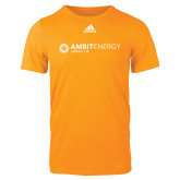 Adidas Gold Logo T Shirt-Ambit Energy Japan