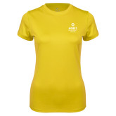 Ladies Syntrel Performance Gold Tee-Ambit Energy Canada