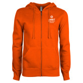 ENZA Ladies Orange Fleece Full Zip Hoodie-Ambit Energy Canada