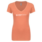 Next Level Ladies Vintage Orange Tri Blend V Neck Tee-Ambit Energy Japan