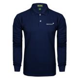Navy Long Sleeve Polo-
