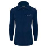 Columbia Ladies Half Zip Navy Fleece Jacket-