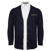 Navy V Neck Cardigan w/Pockets-Ambit Energy