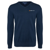 Classic Mens V Neck Navy Sweater-Ambit Energy