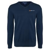 Classic Mens V Neck Navy Sweater-Ambit Energy