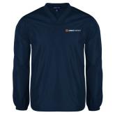 V Neck Navy Raglan Windshirt-Ambit Energy