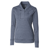 Ladies Cutter & Buck Shoreline Navy 1/2 Zip-Ambit Energy