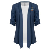 Ladies Navy Drape Front Cardigan-Ambit Energy Canada