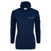 Columbia Ladies Full Zip Navy Fleece Jacket-