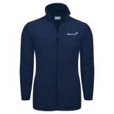 Columbia Full Zip Navy Fleece Jacket-