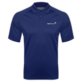 Navy Textured Saddle Shoulder Polo-