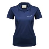 Ladies Nike Golf Dri Fit Navy Micro Pique Polo-