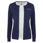 Ladies Navy Cardigan-Ambit Energy