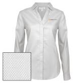Ladies Red House Diamond Dobby White Long Sleeve Shirt-Ambit Energy