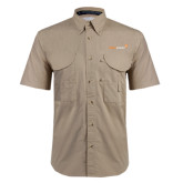 Khaki Short Sleeve Performance Fishing Shirt-