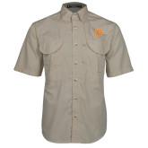 Khaki Short Sleeve Performance Fishing Shirt-Spark