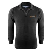 Black Rib 1/4 Zip Pullover-
