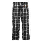 Black/Grey Flannel Pajama Pant-