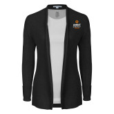 Ladies Black Open Front Cardigan-Ambit Energy Canada