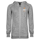 ENZA Ladies Grey/Black Marled Full Zip Hoodie-Ambit Energy Canada