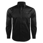 Red House Black Herringbone Long Sleeve Shirt-