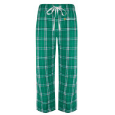 Green/White Flannel Pajama Pant-Ambit Energy