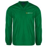 V Neck Kelly Green Raglan Windshirt-Ambit Energy