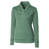 Ladies Cutter & Buck Shoreline Green 1/2 Zip-Ambit Energy