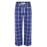 Royal/White Flannel Pajama Pant-Ambit Energy