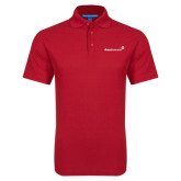 Red Dry Zone Grid Polo-