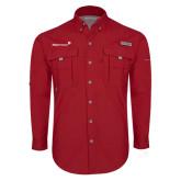 Columbia Bahama II Red Long Sleeve Shirt-