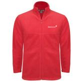 Fleece Full Zip Red Jacket-