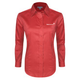 Ladies Red House Red Long Sleeve Shirt-