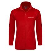 Ladies Fleece Full Zip Red Jacket-