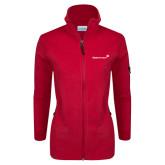 Columbia Ladies Full Zip Red Fleece Jacket-