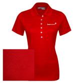 Ladies Callaway Opti Vent Red Polo-